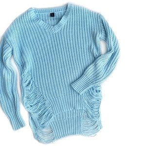 Ripped Shredded Distressed Sweater